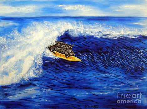 Pig Surfing by Jay  Schmetz