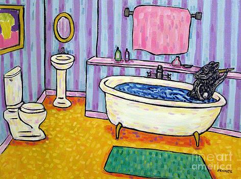 Pig Taking a Bath by Jay  Schmetz