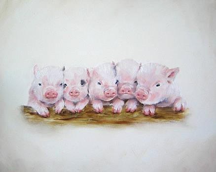 Pig Wall Art by Junko Van Norman