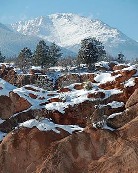Pikes Peak from Red Rock Canyon by Rhonda Van Pelt