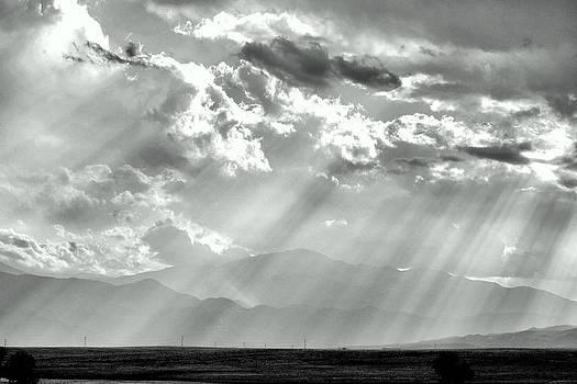 Pikes Peak Through Veil Of Sunrays by Clarice  Lakota