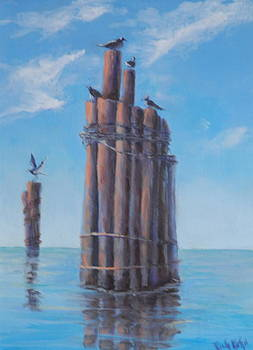 Pilings   by Rich Kuhn
