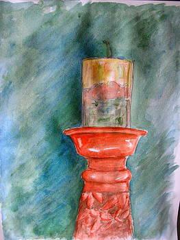 Sandy Tolman - Pillar Candle Watercolor