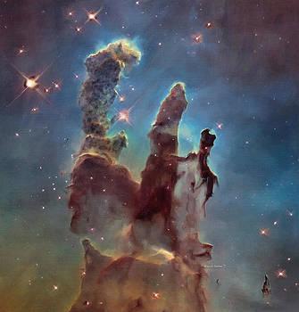 Pillards of Dust The Eagle Nebula by Angela A Stanton