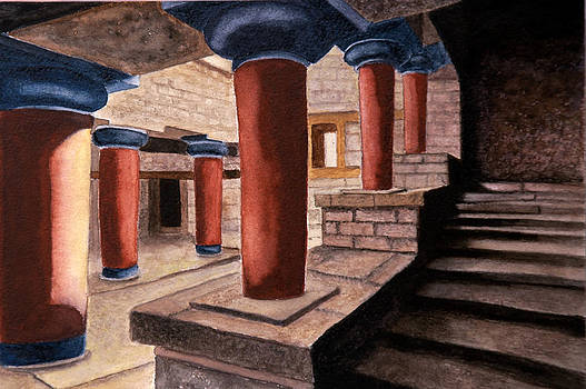 Pillars at Knossos by Shanthi Radhakrishnan