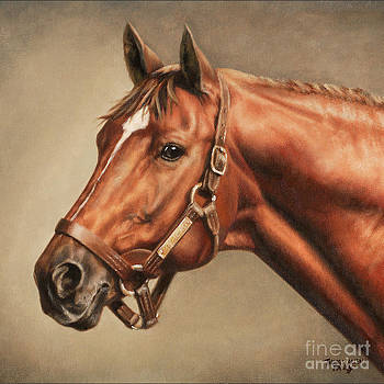 Pillow - Secretariat at Claiborne by Thomas Allen Pauly