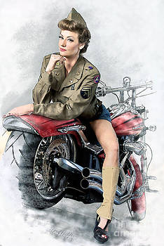 Pin-up Biker  by MAD Art and Circus