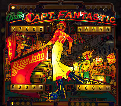 Pinball Machine Capt. Fantastic by Terry DeLuco