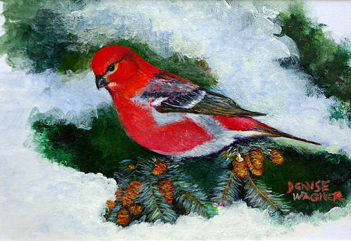 Pine Grosbeak by Denise Wagner