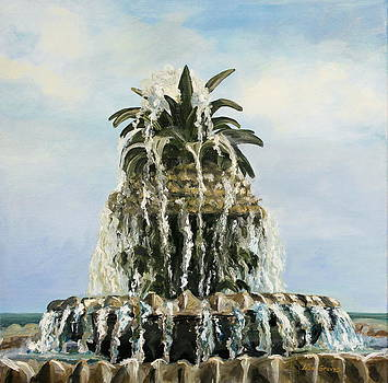 Pineapple Fountain by Lisa Graves