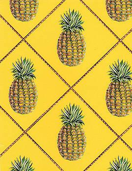 Pineapple Squared Textile Pattern by John Keaton