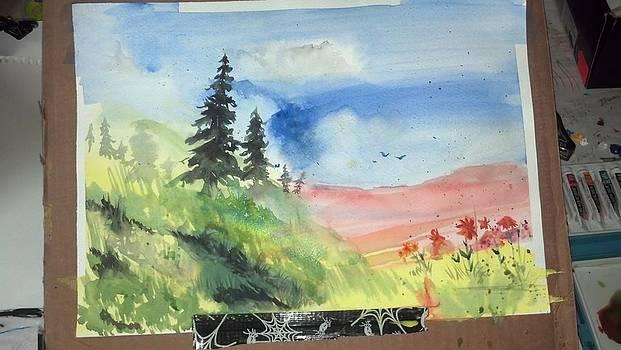 Pines On The Hill by Dan Olszewski