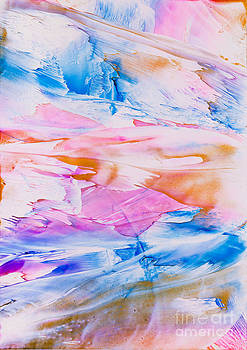 Simon Bratt Photography LRPS - Pink and blue paint splodge abstract