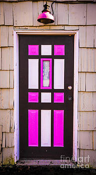 Pink and White Door by Nancy Harrison