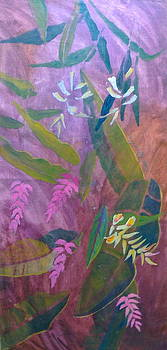 Pink and White Ginger by Diane Renchler