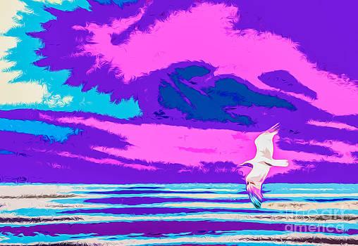 Algirdas Lukas - Pink Blue Seascape