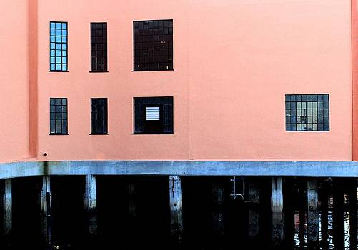 Pink Building on the Wharf by Eve Paludan