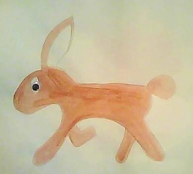 Pink Bunny Rabbit by Karen Jensen