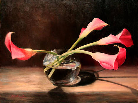 Pink Calla Lilies by Beth Johnston