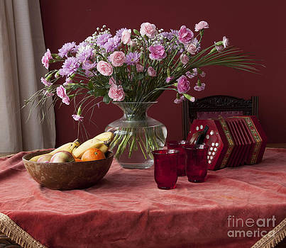 Pink Carnations by Donald Davis