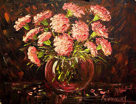 michaelalonzo   kominsky - Pink Carnations Paint Along with Nancy PBS