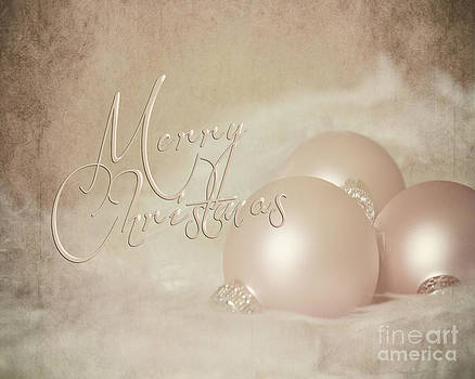 Pink Christmas Ornaments by Pam  Holdsworth