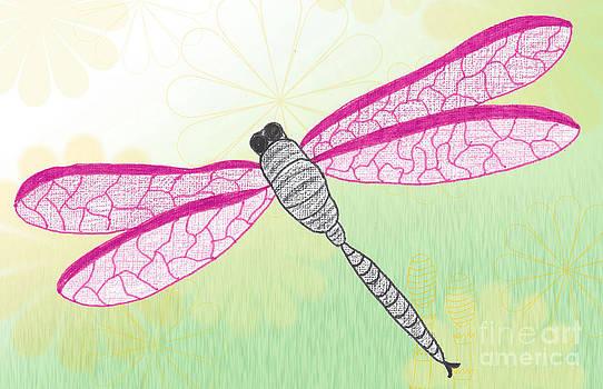 Pink Dragonfly by Kerri Mortenson