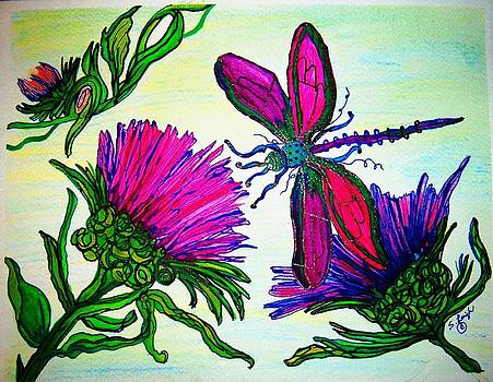 Pink Dragonfly by Sharon Leigh