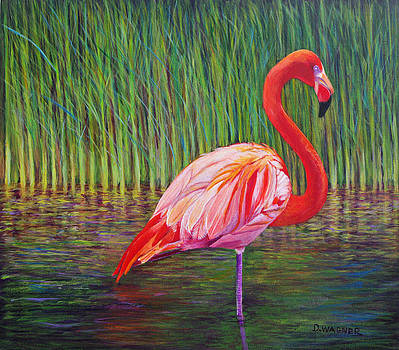Pink Flamingo by Denise Wagner