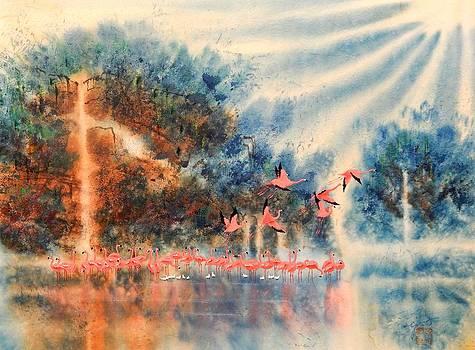 Pink Flamingos by John YATO