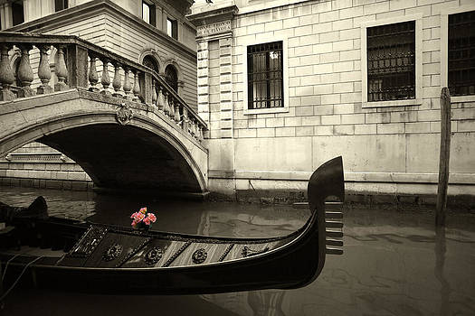 Pink Flowers and gondola by Ron Sumners