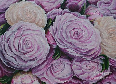 Pink Flowers by Christine Cullen-Reed