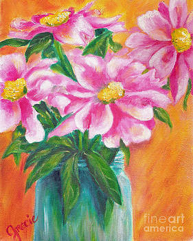 Pink Flowers For You by Gracie Hampton