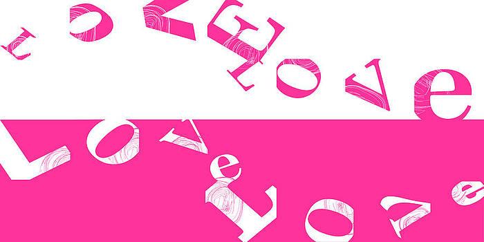Pink Flowing Love by Joel Dynn Ingel Rabina