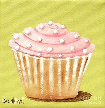Pink Fluff Cupcake by Catherine Holman