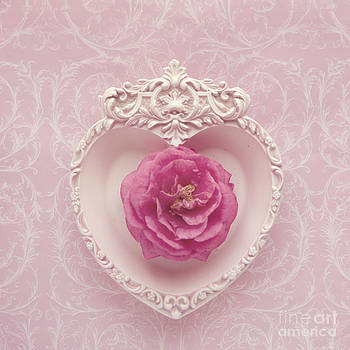 Pink heart - Pink camellia by Cindy Garber Iverson