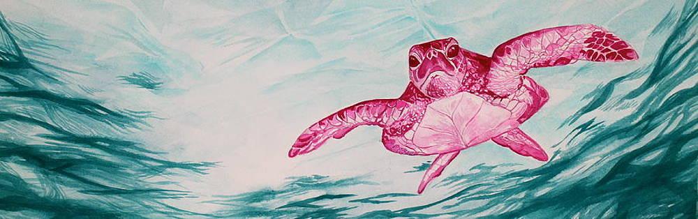 Pink Honu by Heather Torres