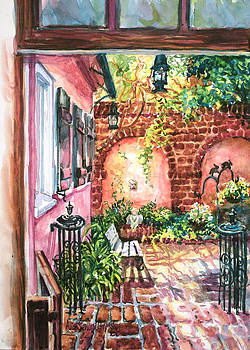 Pink House Courtyard by Alice Grimsley