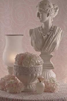 Sandra Foster - Pink Hydrangeas Still Life