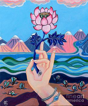 Pink Lotus Mudra by Peta Garnaut