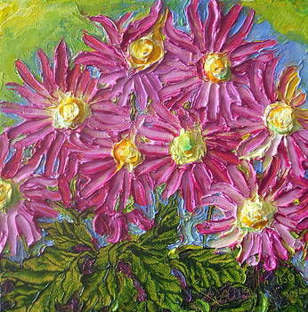 Pink Mums by Paris Wyatt Llanso