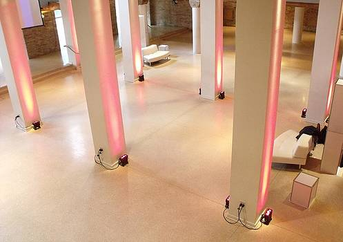 Pink Pillars I by Anna Villarreal Garbis