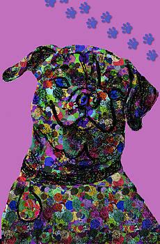 Pink Polkadot Pug 2 by Chris Goulette