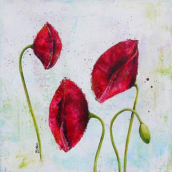 Pink Poppies 2 by Bitten Kari