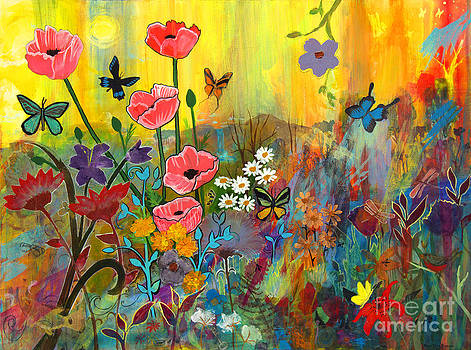 Pink Poppies in Paradise by Robin Maria Pedrero