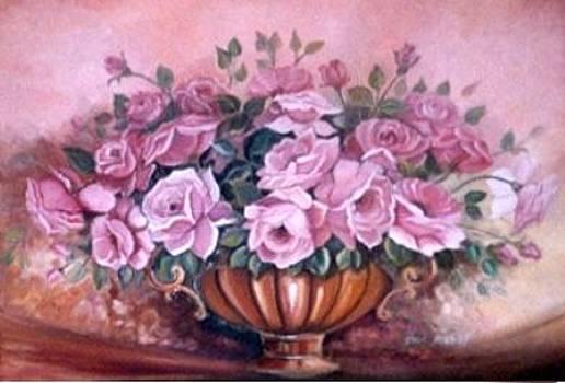 Pink Roses by Ansie Boshoff