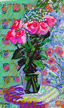 Candace Lovely - Pink Roses in Water