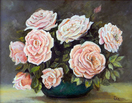Pink Roses  by Judie White