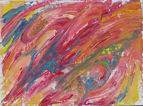 Pink Swoosh by Paintings by Parish
