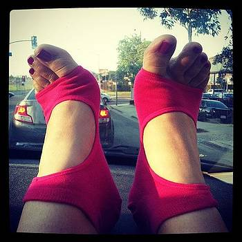 Pink Toes, Pink Socks, Car Dashboard by Alli Flynn